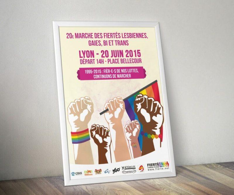 Affiche Gay Pride Lyon 2015