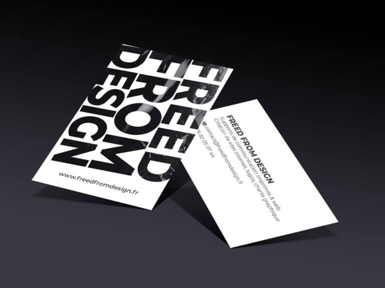 Une carte de visite flambant neuve pour Freed From Design
