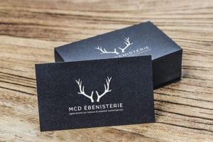 Création de logo et carte de visite pour une ébéniste située en Normandie.
