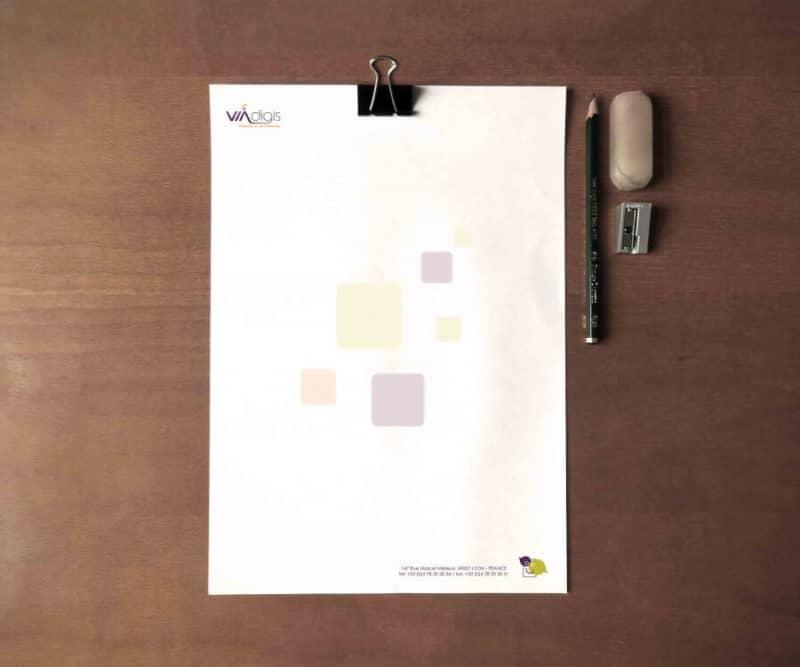 En-tête de lettre imprimée
