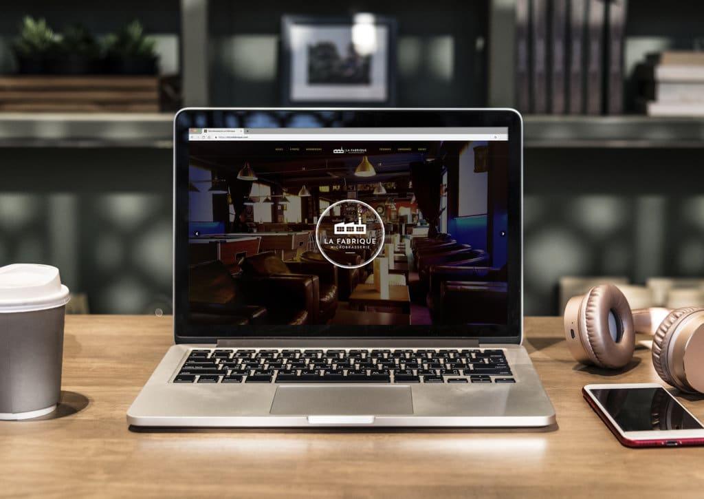 Site internet de la Microbrasserie La Fabrique