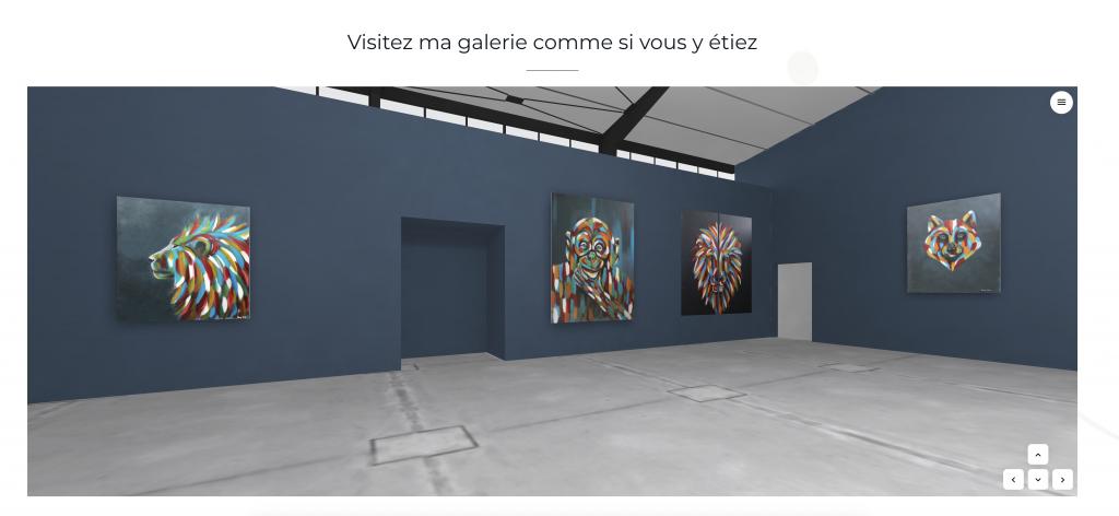Exposition de peinture en galerie d'art virtuelle
