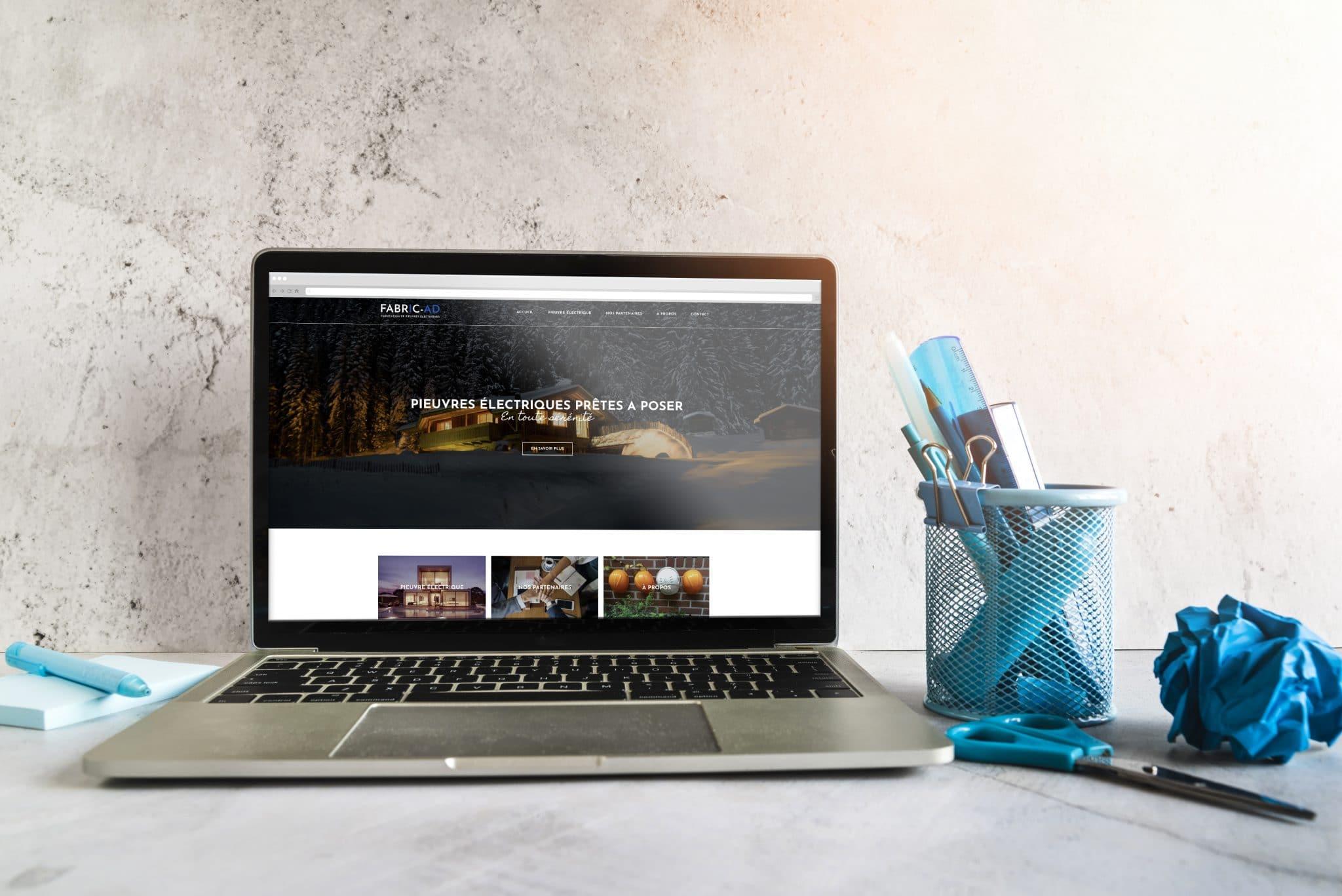 Site web vitrine réalisé avec le CMS wordpress pour un installateur de pieuvres électriques.