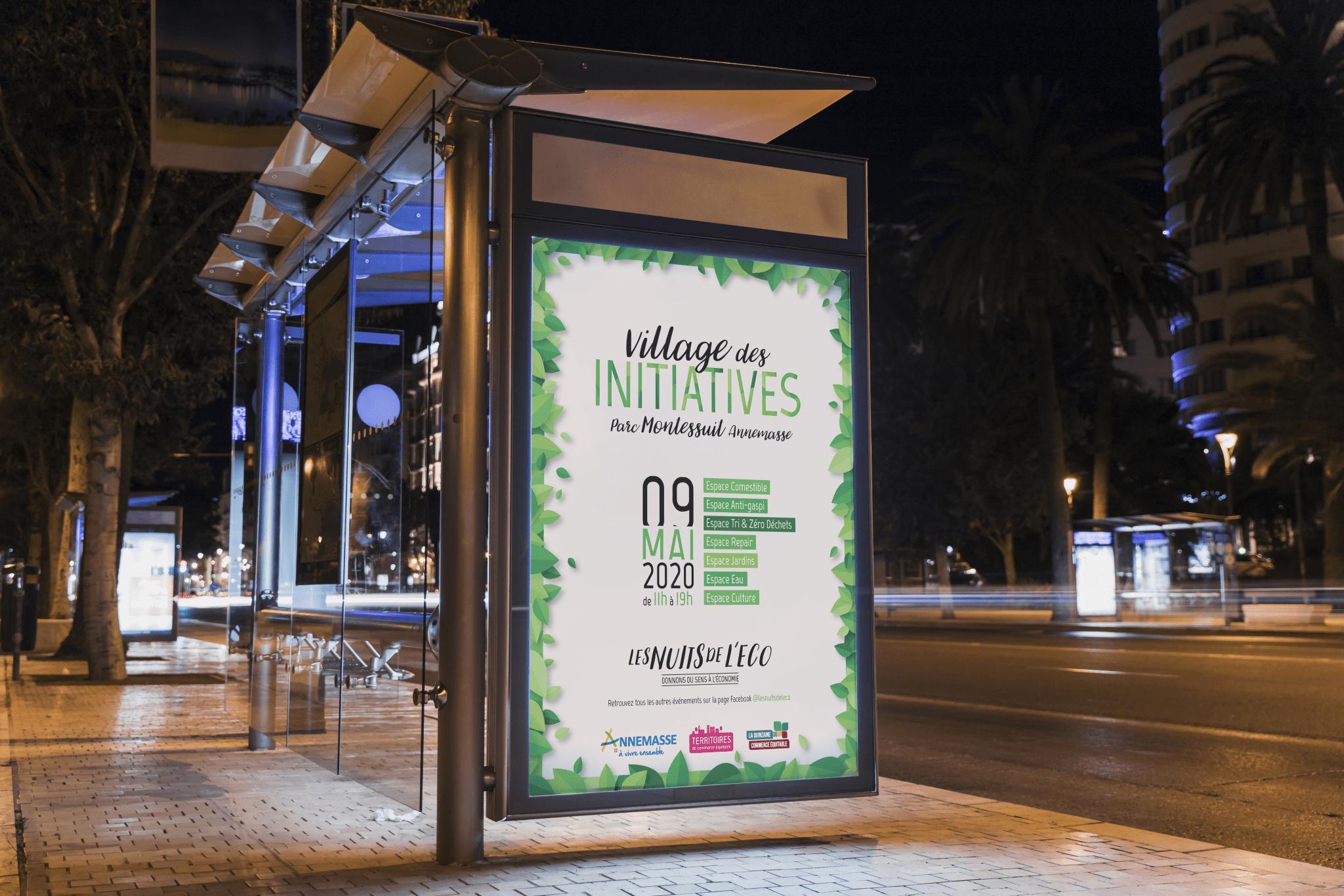 Affiche mairie d'Annemasse, graphiste freelance annecy, graphiste, freelance, infographiste, webdesigner, haute-savoie, geneve