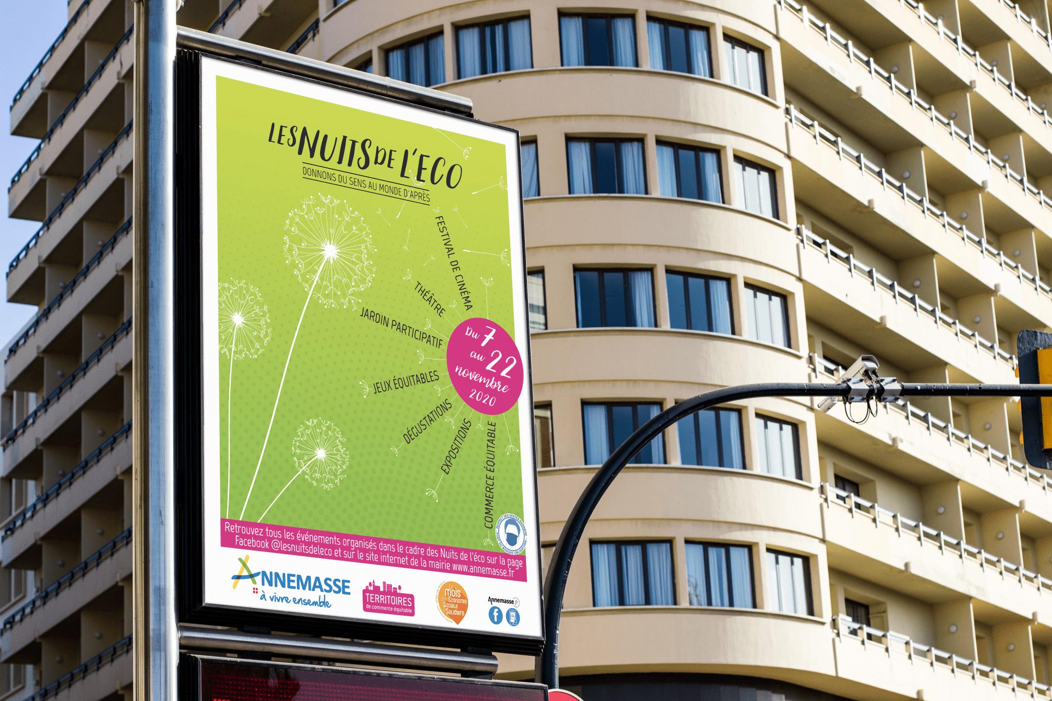 Affiche Mairie d'Annemasse Nuits de l'Eco