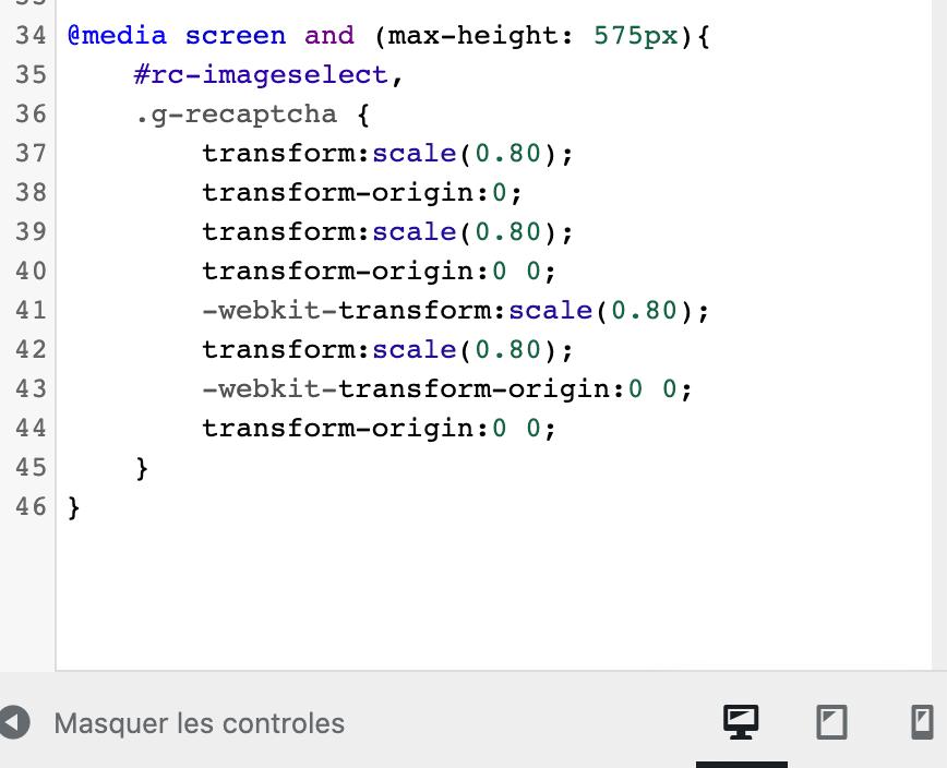 CSS recaptcha mobile