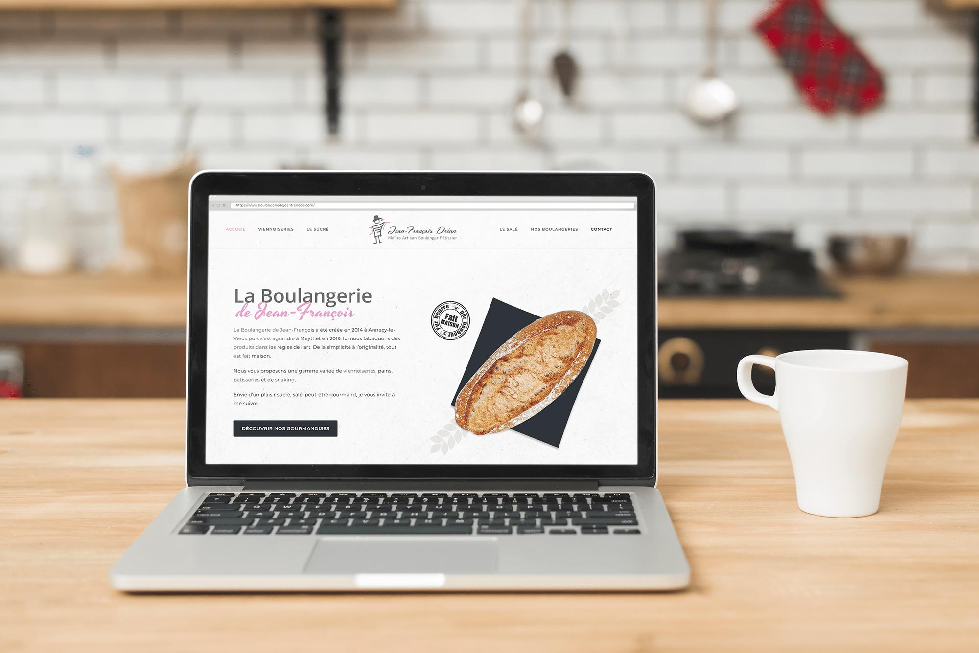Site internet de La Boulangerie de Jean-François Conception du site internet de Jean-François Dréan, Boulanger Pâtissier à Annecy. CMS WordPress, webdesign sur-mesure.