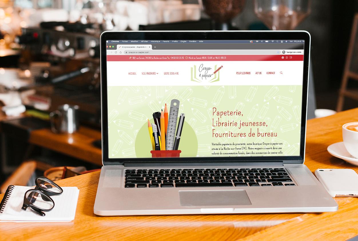 Conception du site web du magasin Crayon à papier à La Roche-sur-Foron.