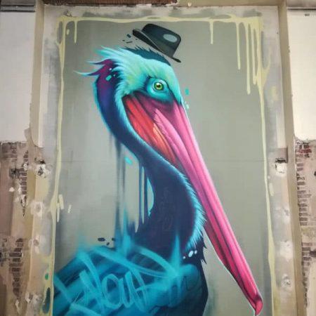 Oeuvre de l'artiste Kalouf au Zoo Art Show (Lyon 2018)